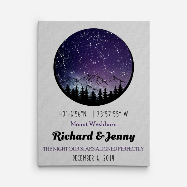 The Night Our Stars Aligned Perfectly Canvas Print
