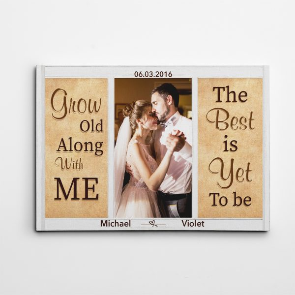 Grow Old Along With Me 5th Anniversary Photo Canvas Print