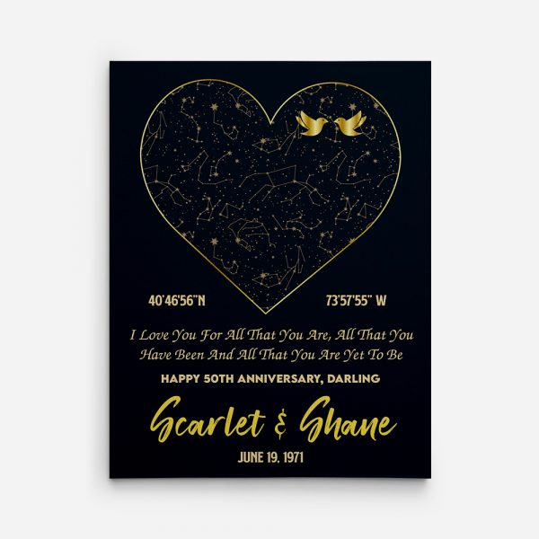 I Love You For All That You Are custom canvas print