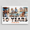 10 Years Married Photo Collage Canvas Print