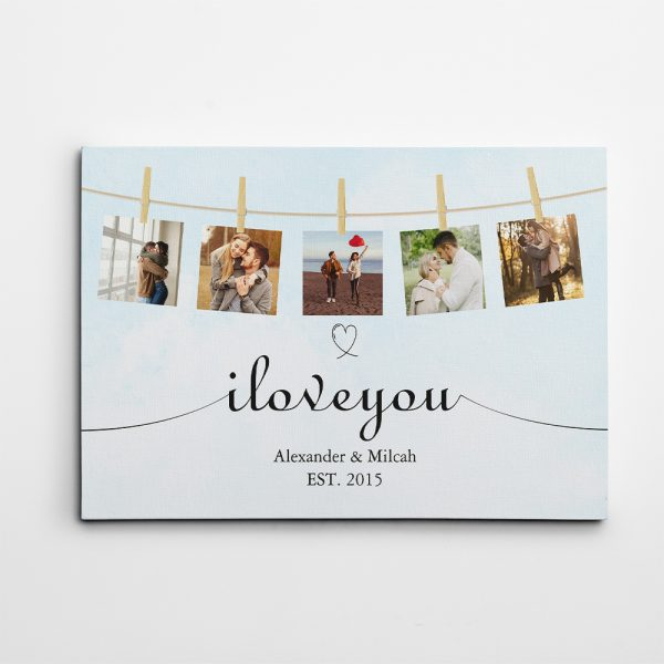 I Love You Photo Collage Canvas Print