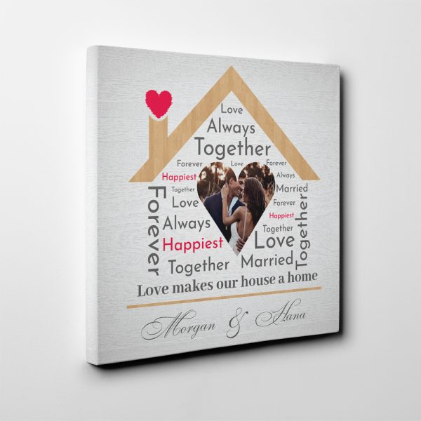 Love Makes Our House a Home personalized gifts for couple