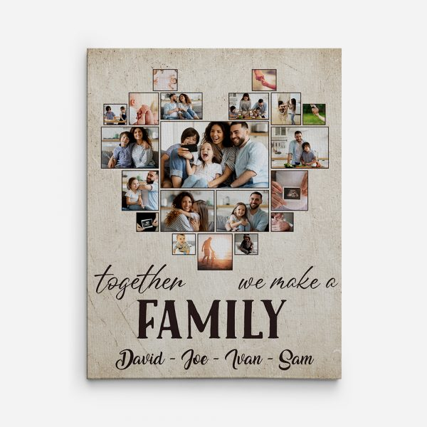 Together We Make A Family Collage Canvas Print