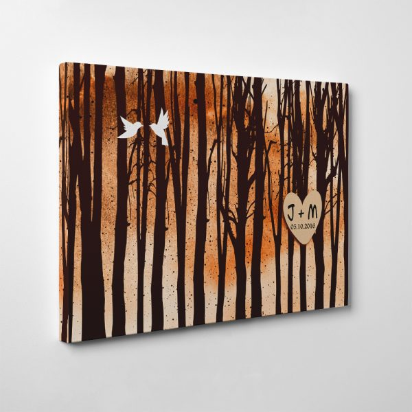 Bare Birch Trees Forest (5 Years) Custom Canvas Print