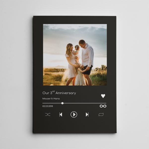 Our 3rd Anniversary On Music Player canvas print