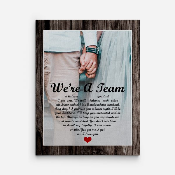 We Are A Team Canvas Print