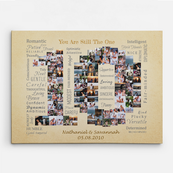 You Are Still The One 10 Years Photo Collage Canvas Print