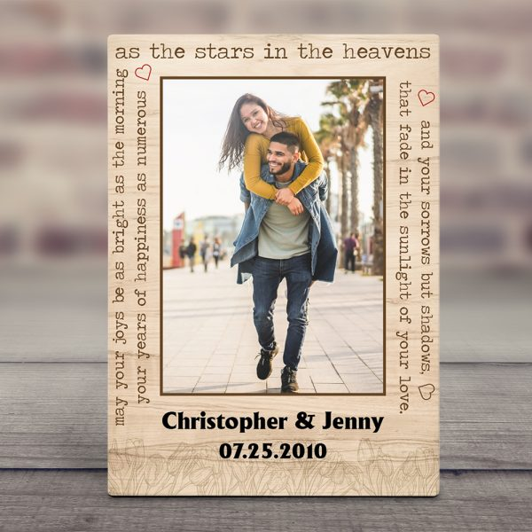 """""""As The Star in The Heavens"""" 11th Anniversary Photo Desktop Plaque"""