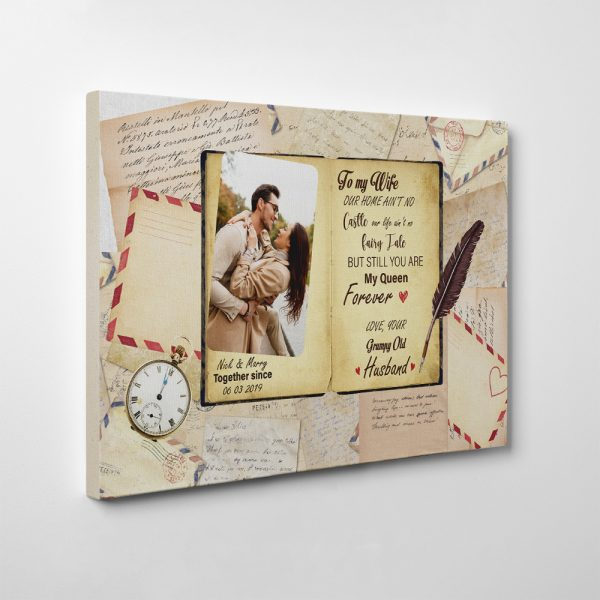 pesonalized gifts for couple, canvas print gifts celebrate aniversary milestone