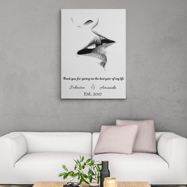 canvas print romantic gifts for couple