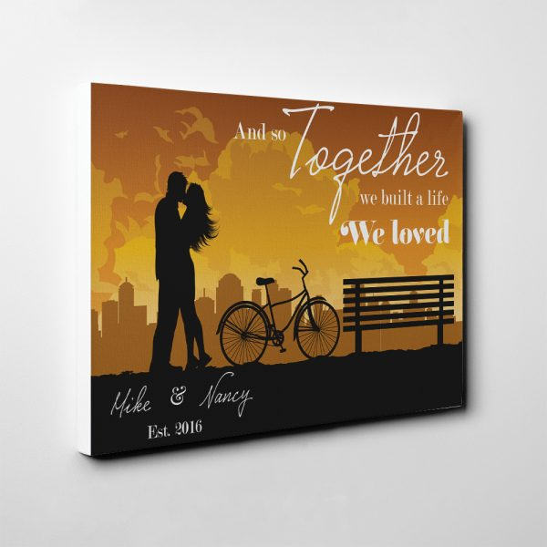 And So Together We Built A Life We Loved - 5th Anniversary Canvas Print