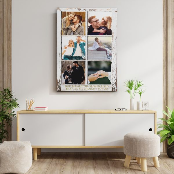 God Blessed The Broken Road 6th-Anniversary Canvas Print