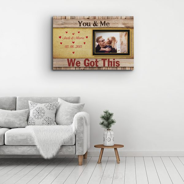 You And Me, We Got This - 6th Anniversary Canvas Print