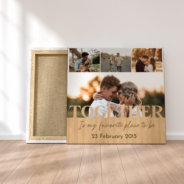 """""""Together Is My Favorite Place To Be"""" 6th Anniversary Canvas Print"""