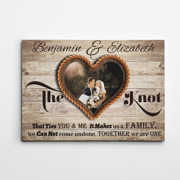 The Knot That Ties You and Me Custom Canvas Print