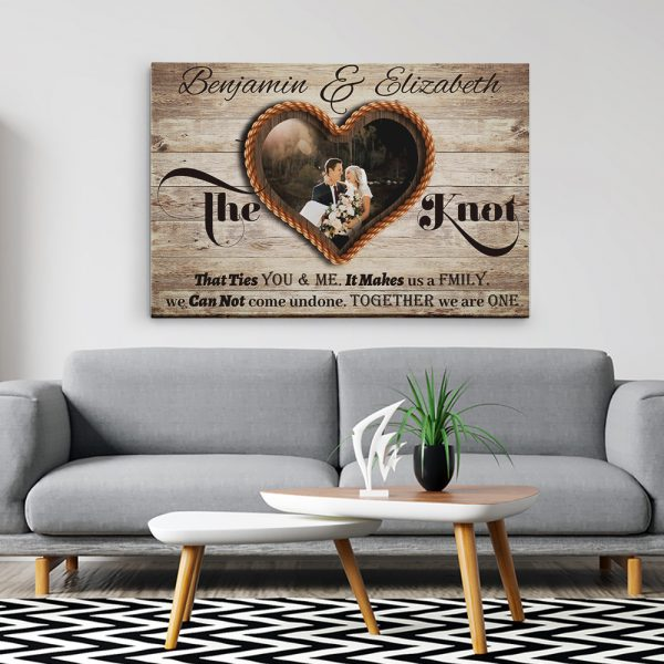 anniversary canvas print gift for couple