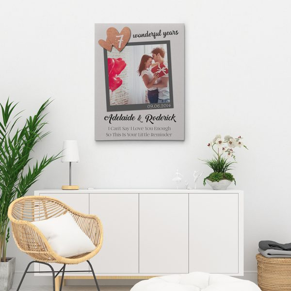 I Can't Say I Love You Enough - 7th Anniversary Photo Canvas Print