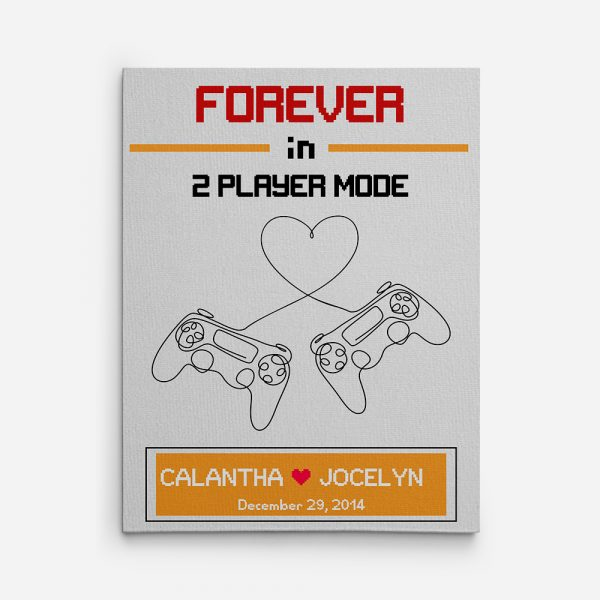 7th Anniversary Forever in 2 Player Mode Custom Canvas Print
