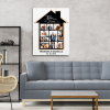 Home Is Where The Heart Is 7 Years Anniversary Photo Collage Canvas Print