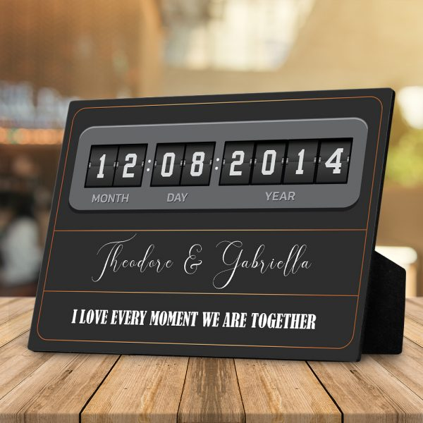 I Love Every Moment We Are Together (7 Years) Custom Desktop Plaque