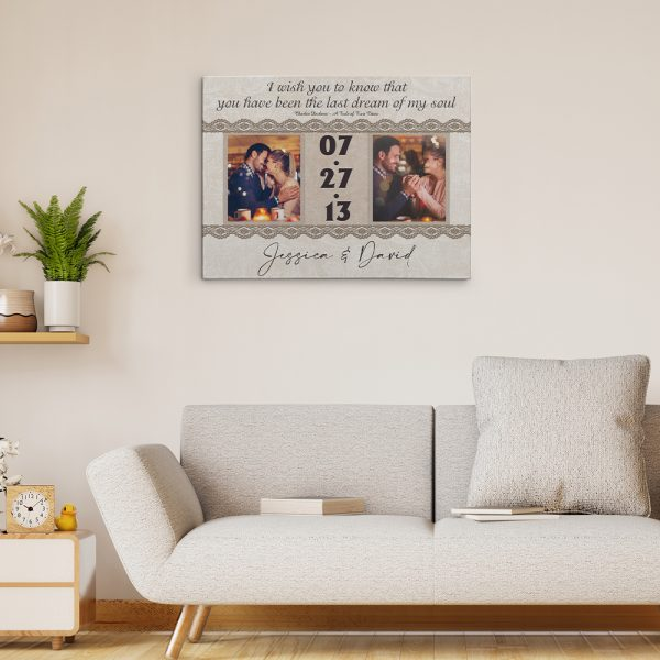You Have Been The Last Dream Of My Soul 8th-Anniversary Canvas Print