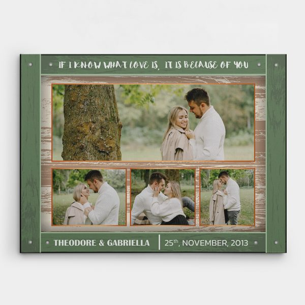 If I Know What Love Is, It Is Because Of You - 8th Anniversary Collage Canvas Print - Design a