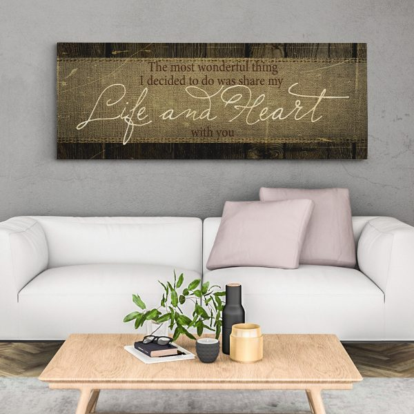The Most Wonderful Thing I Decided To Do 8th-Anniversary Canvas Print