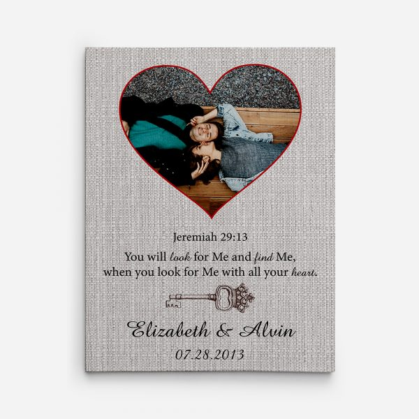 You Will Look For Me 8th Anniversary Custom Photo Canvas Print
