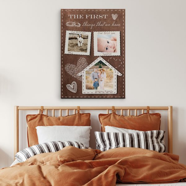 The First Things That We Have - 9th Anniversary Canvas Print
