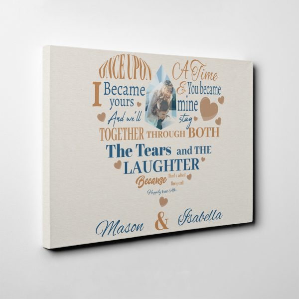 Once Upon A Time I Became Yours Photo Canvas Print