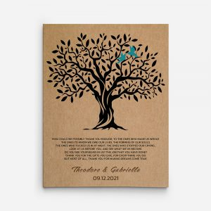 Thank You Parent Gifts Canvas