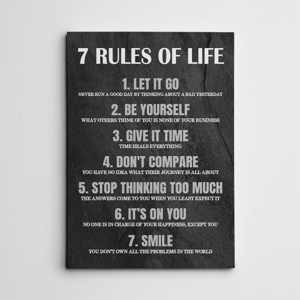 7 Rules of Life Canvas Print