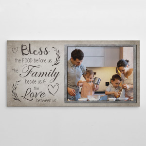 Bless The Food Before Us The Family Canvas Print
