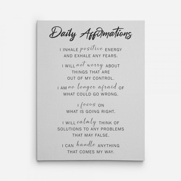 Daily Affirmations Canvas Print