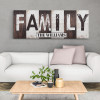 Family Rustic Wood Sign Canvas Print