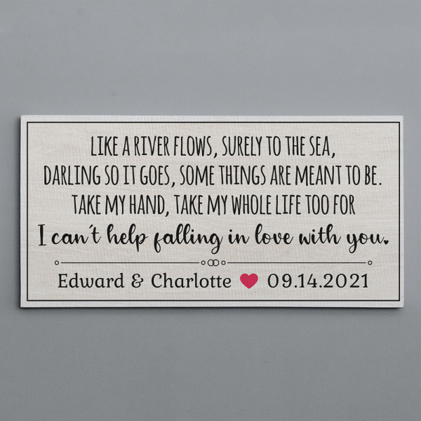 Like A River Flows Surely To The Sea Custom Canvas Print