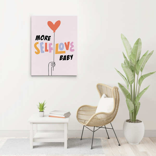 More Self Love Baby Canvas Wall Art