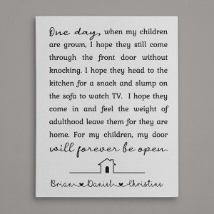 One Day When My Children Are Grown Custom Canvas Print