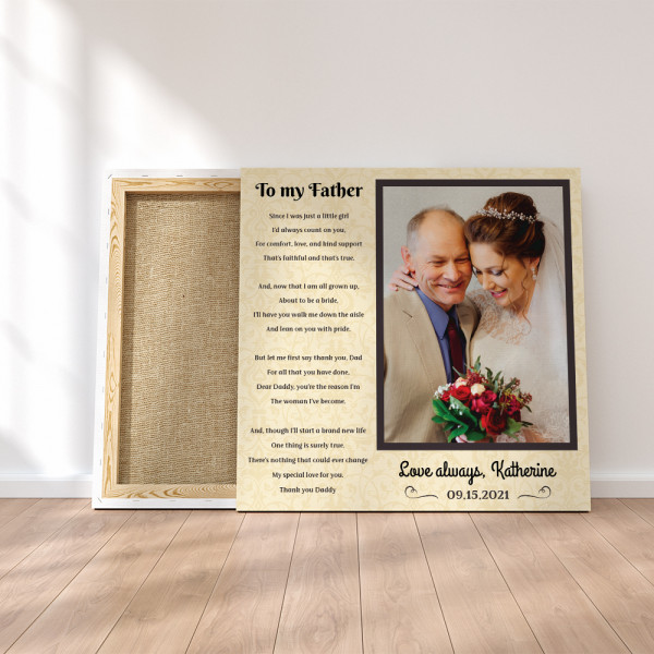 """""""To My Father Mother of Mine"""" Poem Photo Canvas Print"""