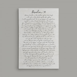 Psalm 91 Canvas Print Sign For Home