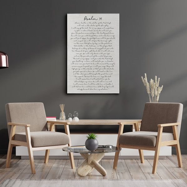 Psalms 91 Canvas Print Sign For Home