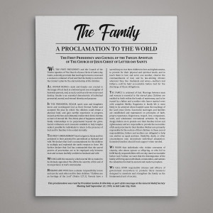 Family Proclamation To The World Canvas Print