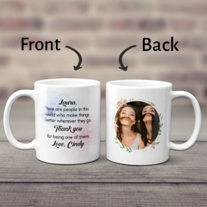 Thank You for Being One of Them Custom Photo Mug