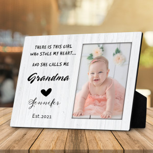 There Is This Girl Who Stole My Heart Custom Photo Desktop Plaque