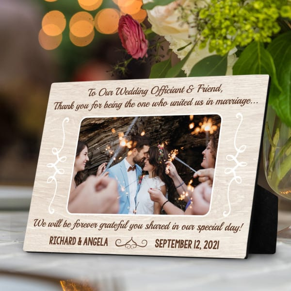 Thank You For Being The One Who United Us In Marriage Desktop Plaque