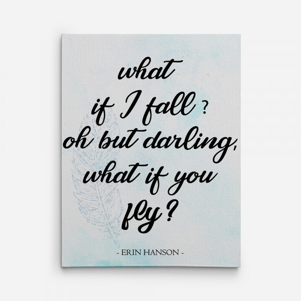 What If I Fall Canvas Print