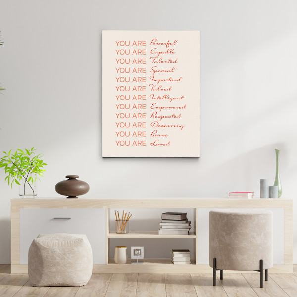 Empowered Women Poster You Are Fabulous Canvas Print