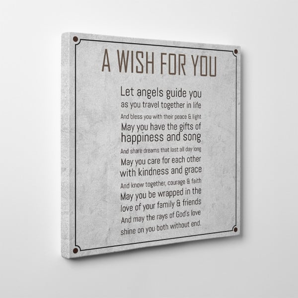 A Wish For You Sign Canvas Print