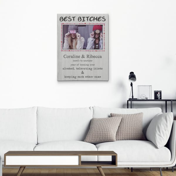 """""""Bonding Over Alcohol Tolerating Idiots and Keeping Each Other Sane"""" Photo Canvas Print"""