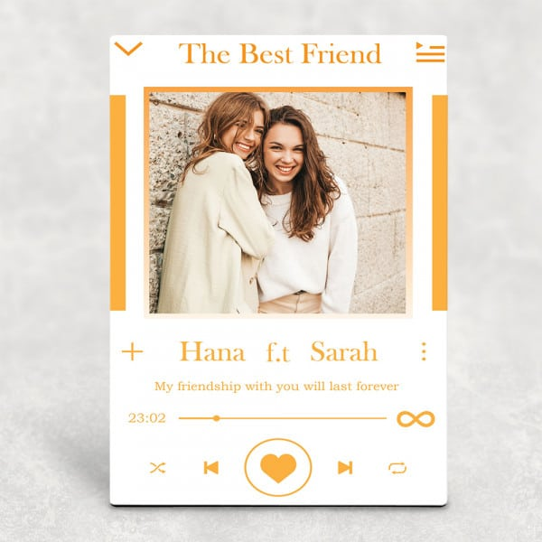 """""""My Friendship With You Will Last Forever"""" Custom Desktop Plaque"""